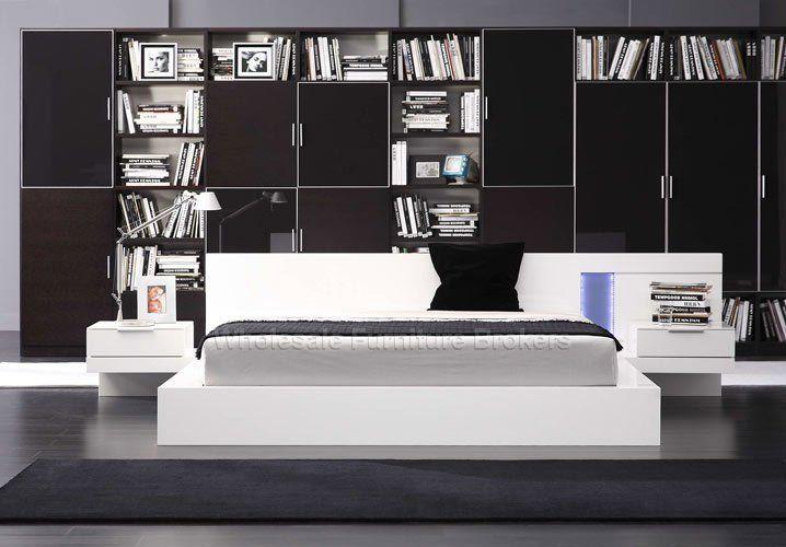Modern White Platform Bed   Alaska Night White Platform Bed by True Contemporary - DC