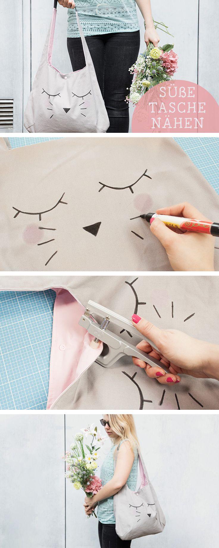 Näh-DIY für eine süße Einkaufstasche / sewing diy: bunny shopper bag, fashion via DaWanda.com