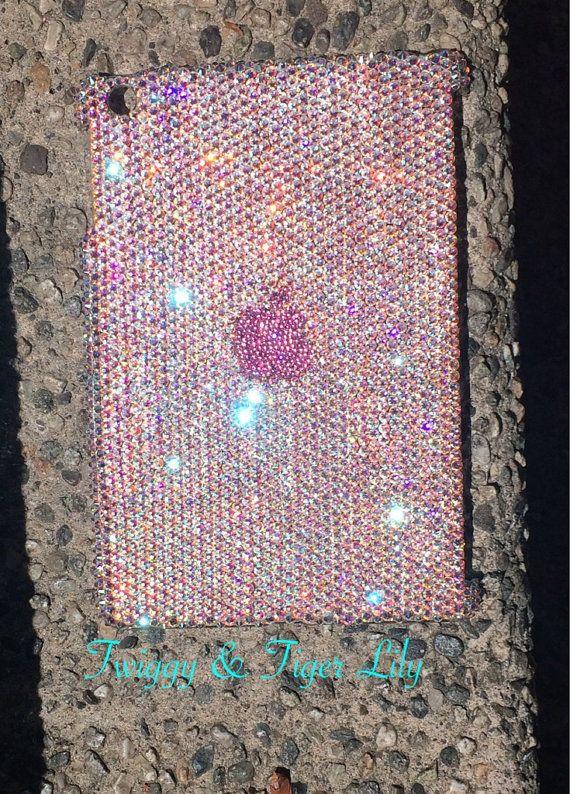 Swarovski Crystal Embellished iPad Case in Crystal AB and Pink Rhinestones by TwiggyAndTigerLily, $350.00