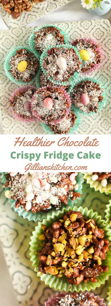 Healthier Chocolate Rice Crispy Fridge Cakes