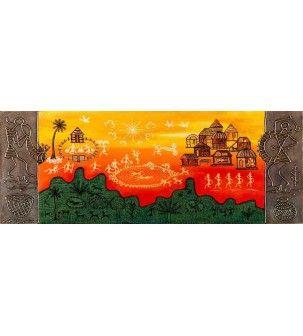 Lake View Warli Painting