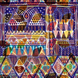 Bright Ornamental Pattern. Ethnic Pattern