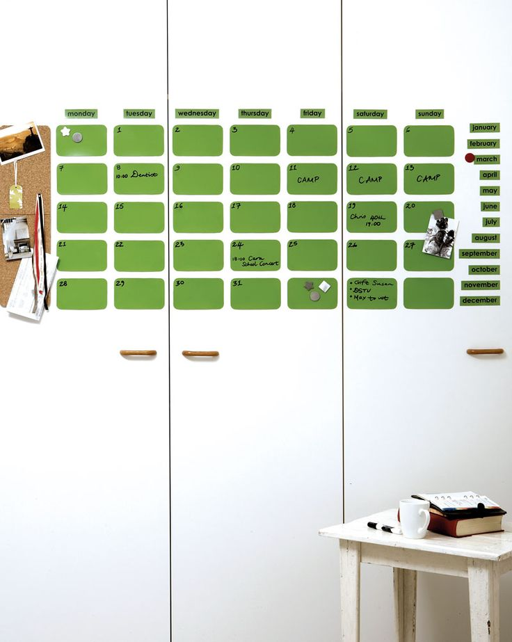 DIY: make a magnetic calendar