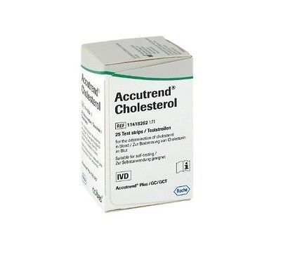 Cholesterol Testing: Accutrend Blood Cholesterol Test Strips Monitor Control Meter Monitoring Testing BUY IT NOW ONLY: $42.99
