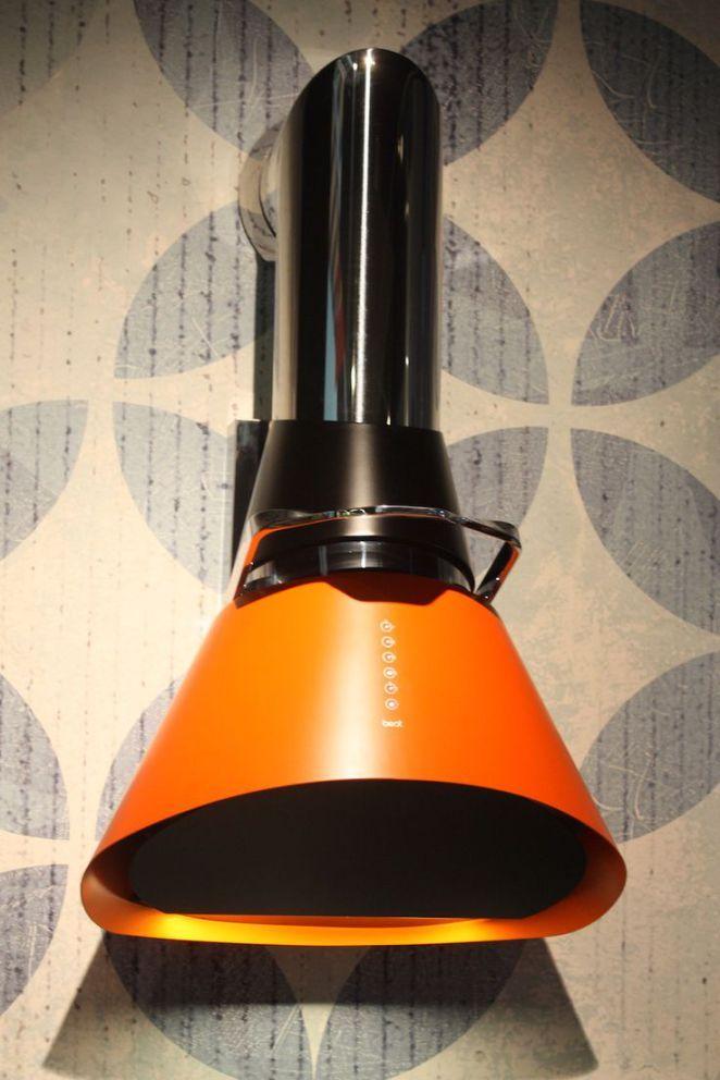 "Idée relooking cuisine  Best mod orange hood  ""For a modern and colorful twist Best range hoods ha"