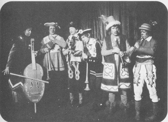 """Comedian Harmonists' first public performance in 1928, in the musical theatrical revue """"Casanova."""""""