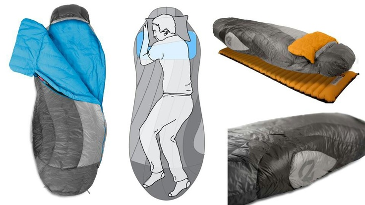 FInally a sleeping bag for side and stomach sleepers!