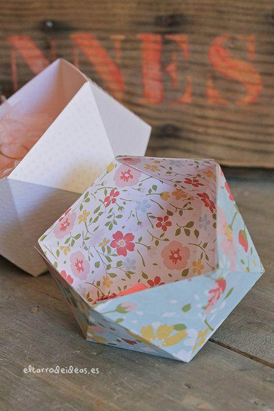 Tutorial genial: Caja geométrica nórdica | El tarro de ideas