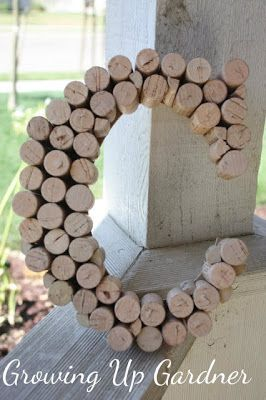 Growing Up Gardner: Wine Cork Letter. I really want to do this. Guess we're going to start saving our wine corks :)