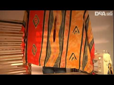Tutorial: PONCHO COPRICOSTUME CON DUE FOULARDS - YouTube