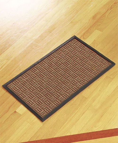 Durable Indoor Outdoor Utility Floor Mat Versatile Anti Slip Hallway Foyer Beige