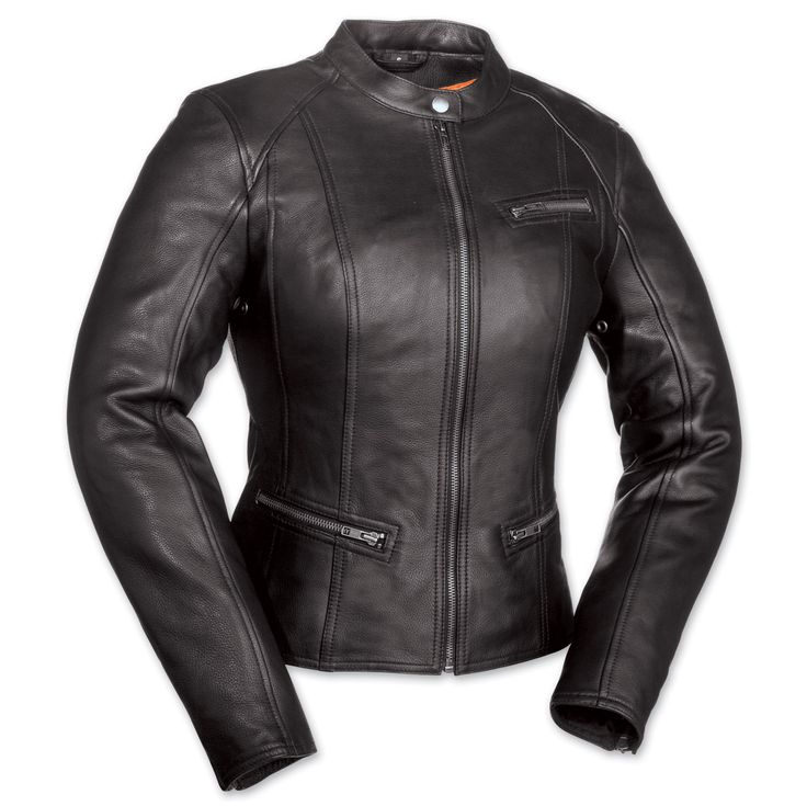 First Manufacturing Co. First Fashionista Ladies Black Leather Jacket