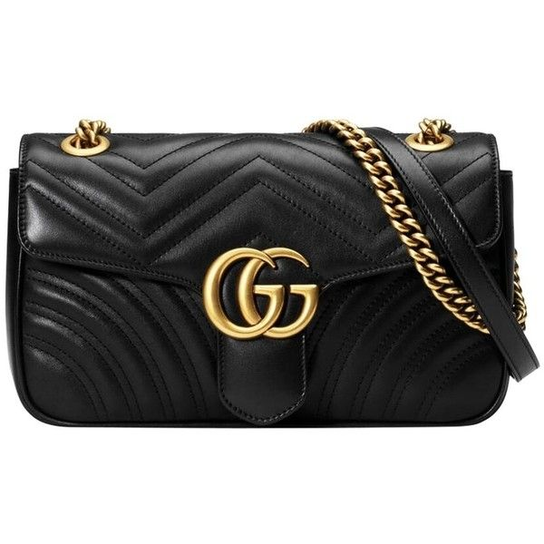 Gucci Black Gg Marmont Matelass Small Shoulder Bag 1 890 Liked On Polyvore Featuring Bags Handbags