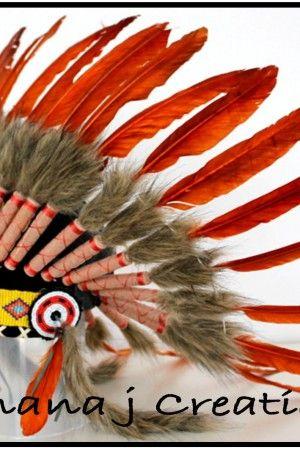 BJ Burnt Orange Headdress