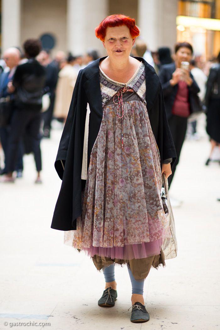 fashion writers: Lynn Yaeger at Comme des Garçons #pfw #lynnyaeger http://www.gastrochic.com