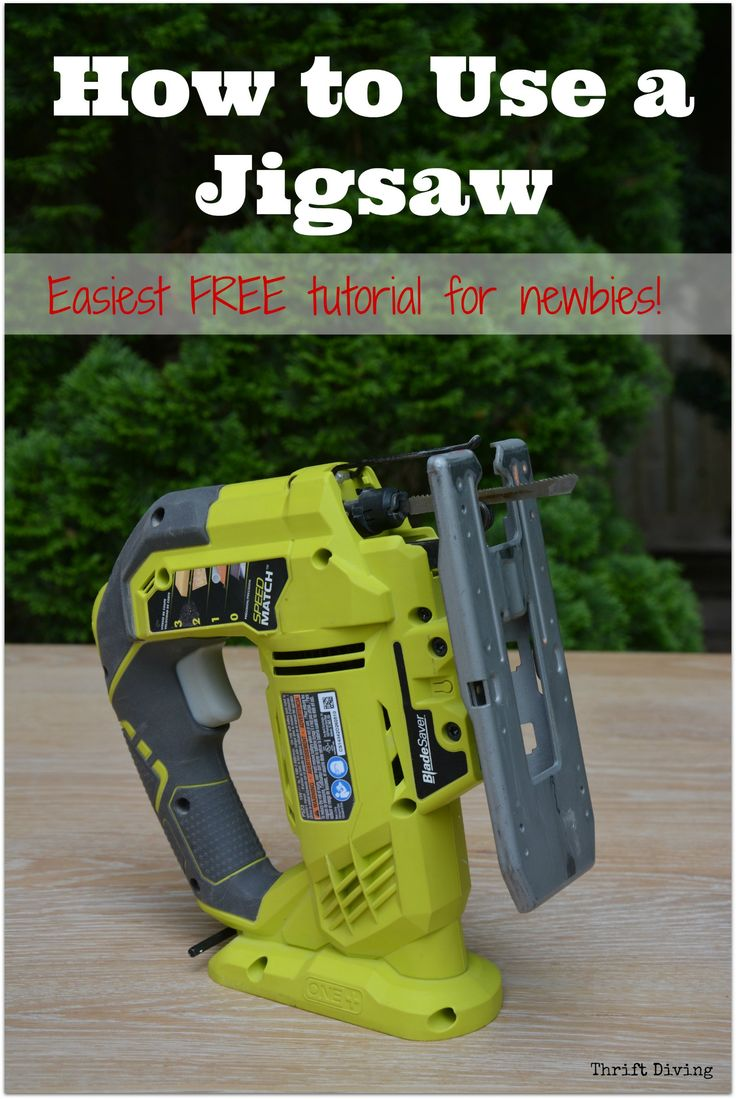 Best in-depth tutorial on how to use a jigsaw! Perfect for newbies with no experience. Learn how to use it safely. Take your DIY projects to the next level!