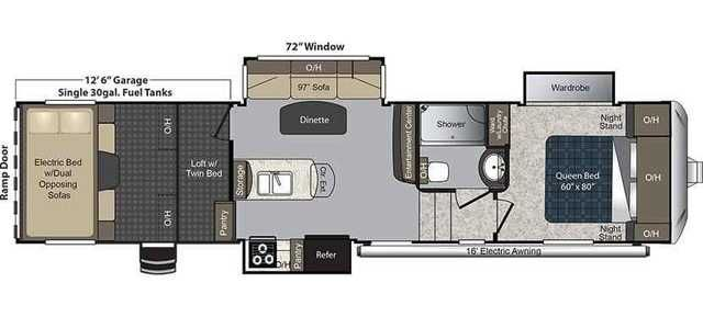 2016 New Keystone CARBON 347 Toy Hauler in Colorado CO.Recreational Vehicle, rv, SAFETY PACKAGE, ENTERTAINMENT PACKAGE, INTERIOR VALUE PACKAGE, EXTERIOR VALUE PACKAGE, CORRECT TRACK, ELECTRIC BEDS WITH DUAL OPPOSING COUCHES, 97'' COUCH WITH RECLINERS, ZONE CONTROL 15 BTU 2ND AIR CONDITIONER, ONAN 5.5 GENERATOR, 6 POINT HYDRAULIC AUTO LEVELING, PULL DOWN SCREEN IN CARGO AREA, REMOVABLE EDGED CARGO CARPET, RVIA SEAL, WINTERIZATION. FOR MORE INFORMATION CLICK VIEW WEBSITE ABOVE.