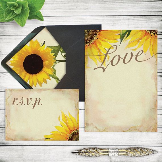 The 25 best rustic sunflower weddings ideas on pinterest fall diy rustic sunflower wedding invitation template by vginvites junglespirit Images