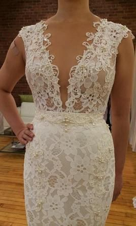 Find this Berta Bridal #weddingdress for sale on PreOwnedWeddingDresses.com  https://www.preownedweddingdresses.com/dresses/view/136182/Berta-Bridal-Size-2.html