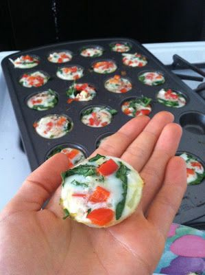 Egg White Bites!  These were so easy to grab and go on my way to work! Say goodbye to McDonald's breakfast and hello to healthy living!