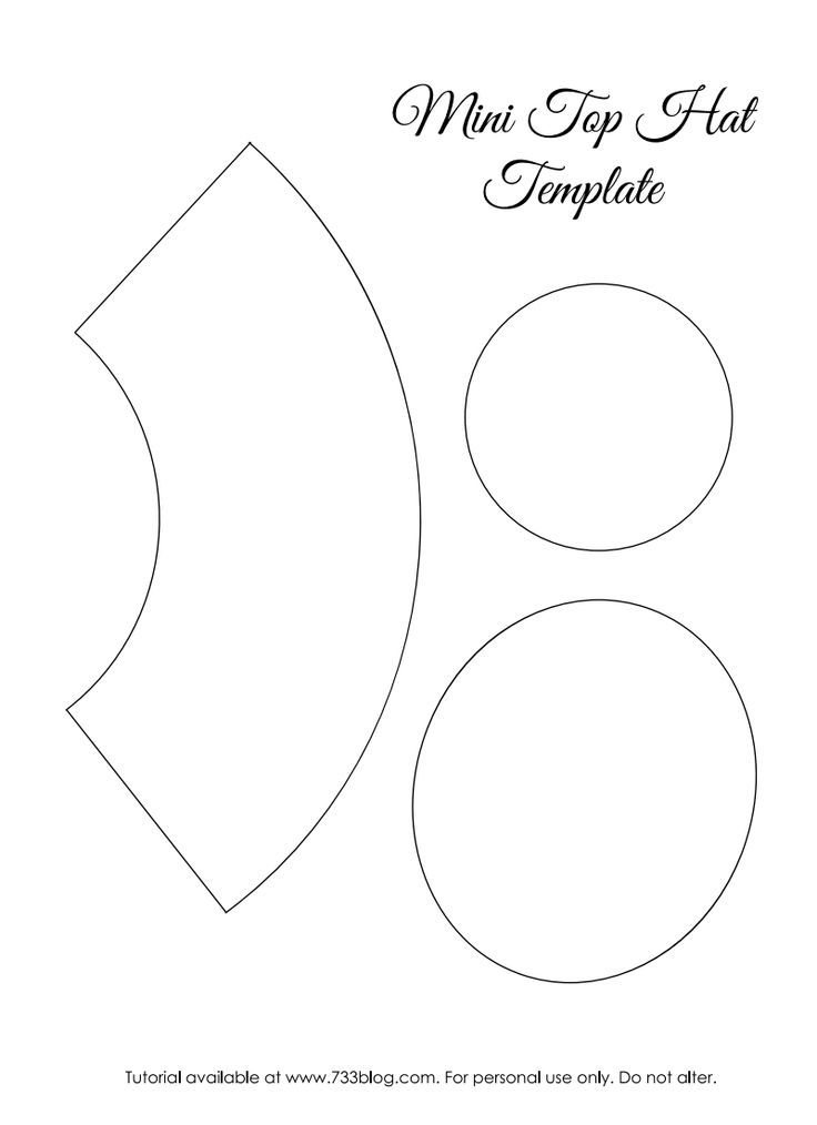 Image Result For Mini Top Hat Template Hat Template Top Hat