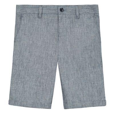 RJR.John Rocha Boys' grey textured linen blend shorts | Debenhams