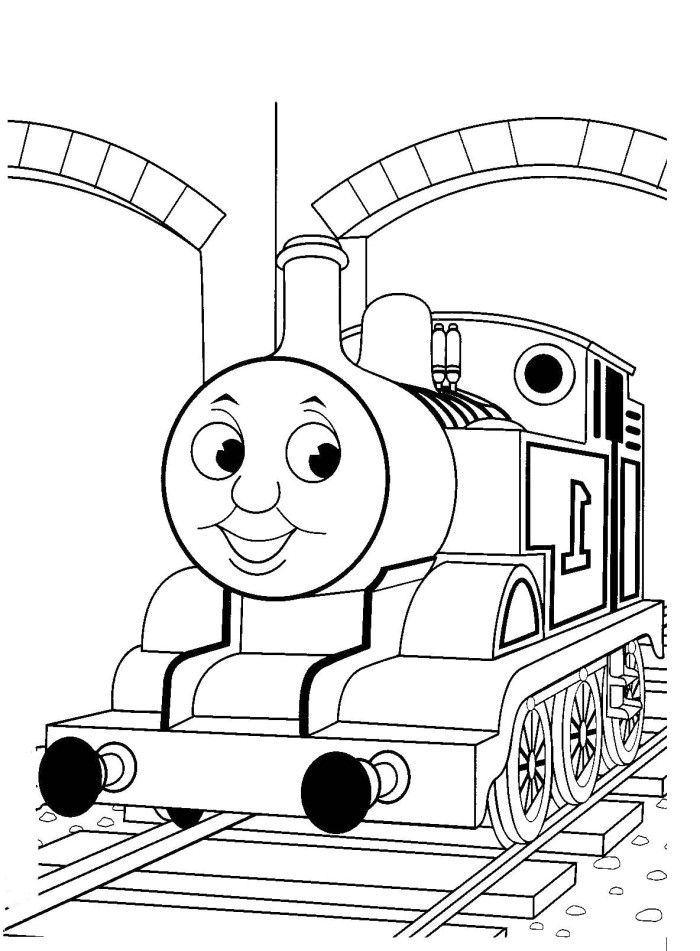 Thomas The Train Tunnels Coloring