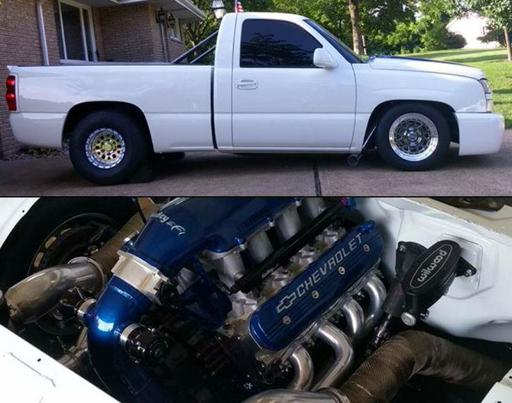 "412 Motorsports 2002 Chevy Silverado AKA - ""Project Cocaine""    Lsx427 Twin 76mm Precision Turbo www.facebook.com/412Motorsports"