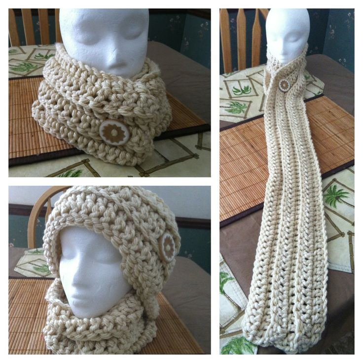Crochet Scarf Pattern With Button : Free Crochet