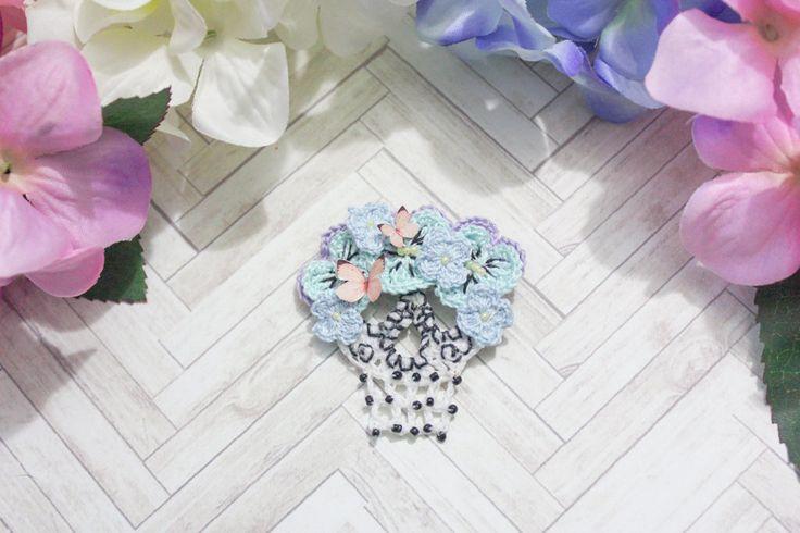Sugar Skull brooch n.002 by BlueberrySodaShop on Etsy