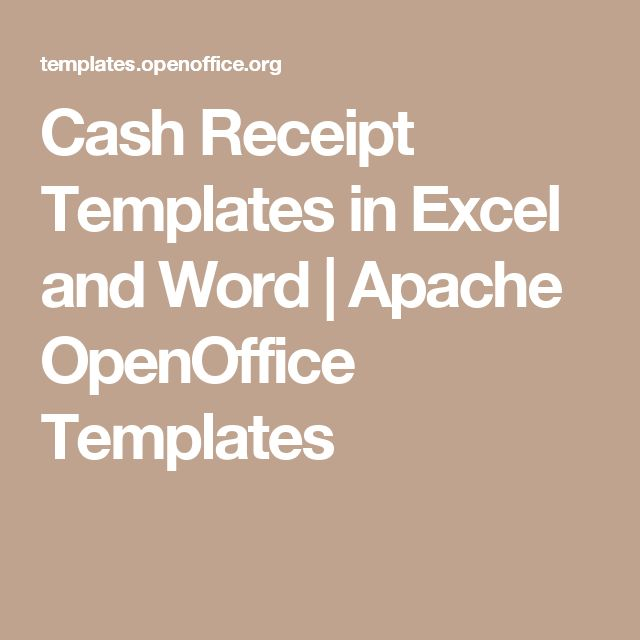Cash Receipt Templates in Excel and Word | Apache OpenOffice Templates