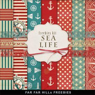 Far Far Hill: reebies Backgrounds Kit - Sea Life