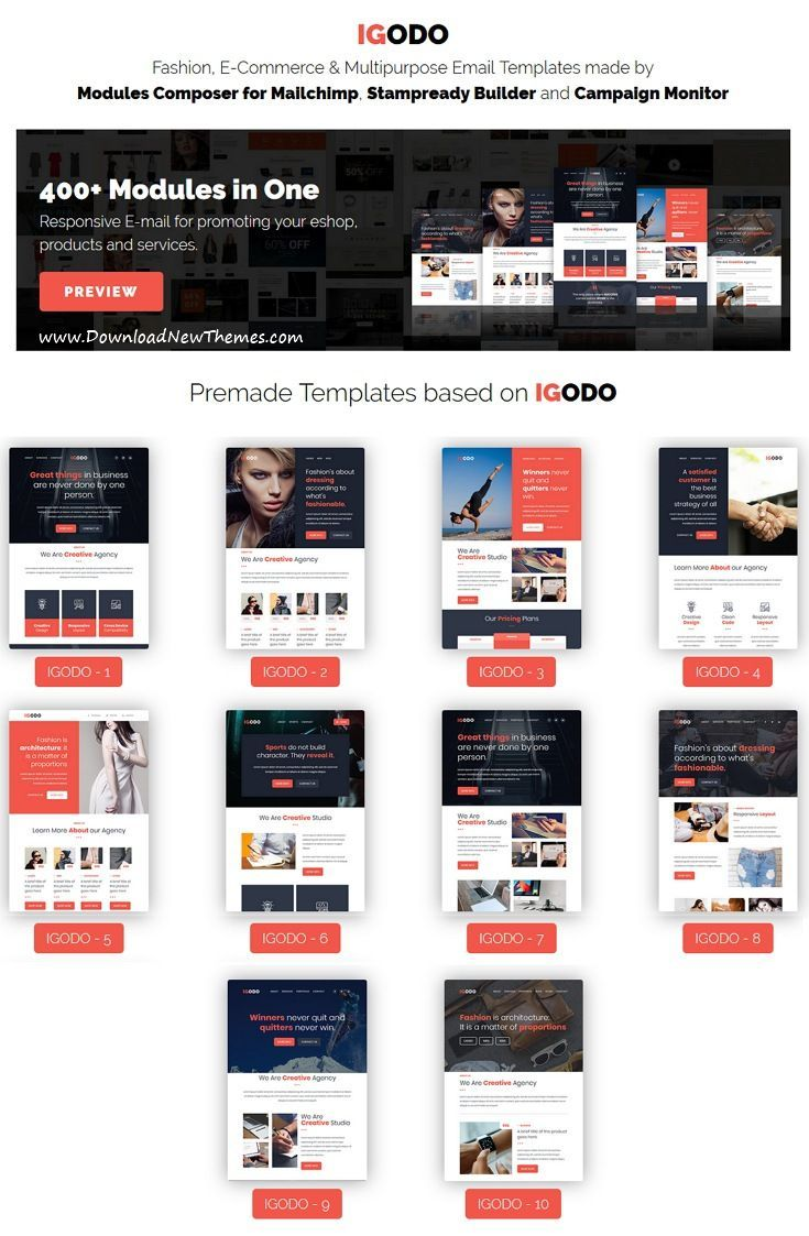 Igodo Is Clean And Modern Design Responsive Multipurpose Email