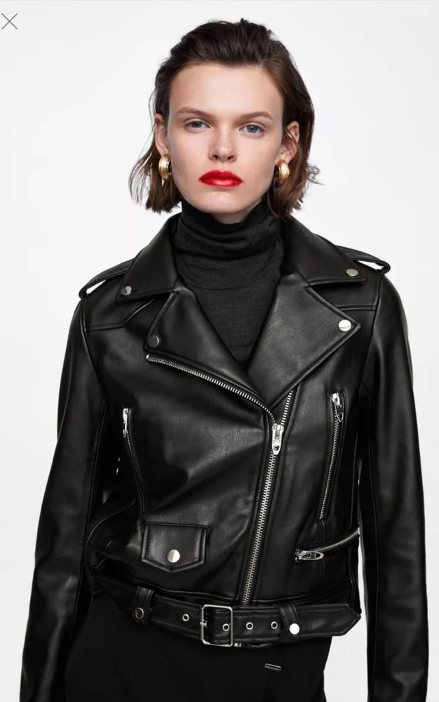 38d5ee38911 Zara Basic Faux Leather Black Biker Jacket Coat  Blazer Women Size XS   fashion  clothing  shoes  accessories  womensclothing  coatsjacketsvests  (ebay link)