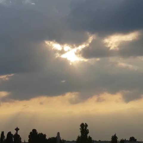 Clouds in my city. | #landscape #light #clouds  #citylight #Sunshine #inspiration