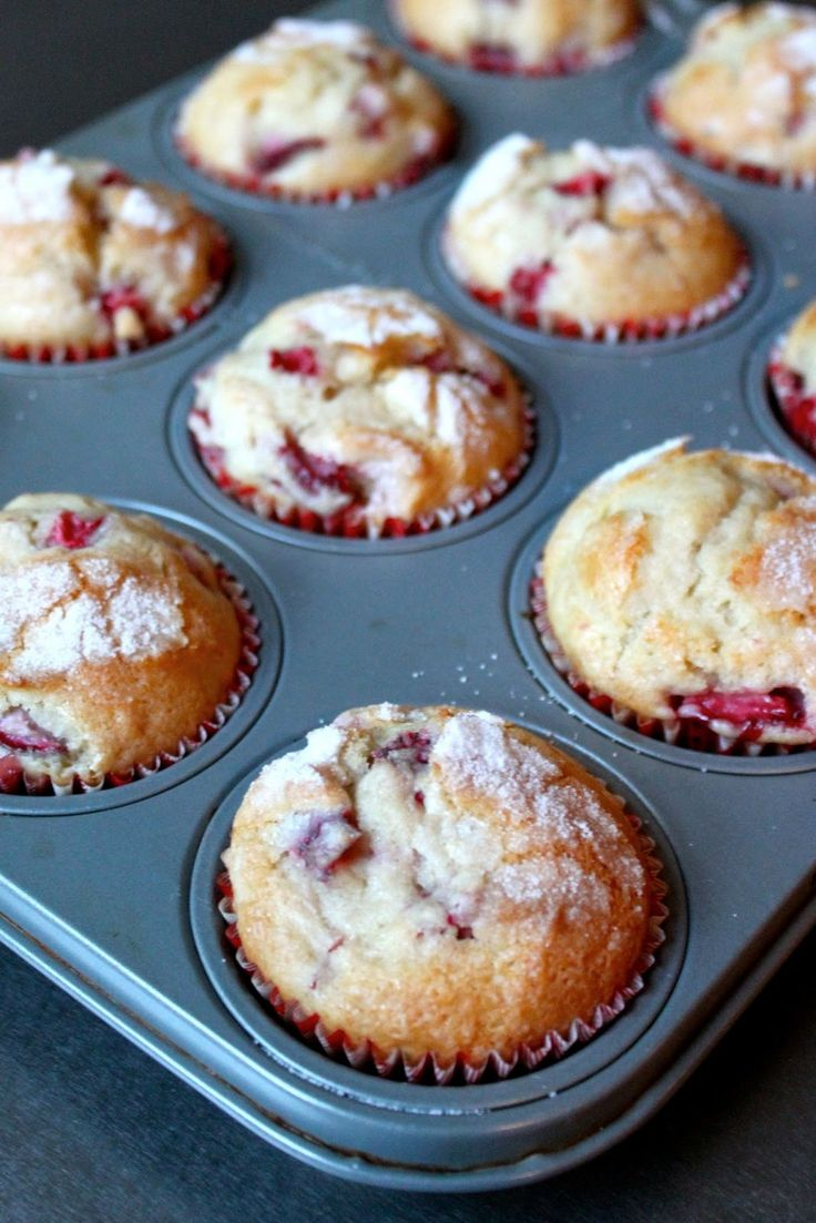 Baked Perfection: Strawberry Muffins Made it with strawberry yogurt and topped it with strudel. Munnu