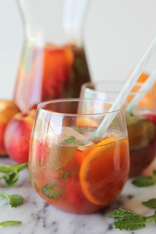 raspberry peach ice tea