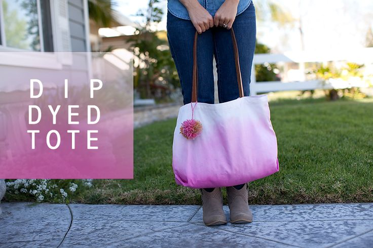Instructions for making a dip dye tote from kristineldridge.com