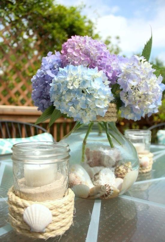 Outdoor Wohnraum-Tischdeko Ideen-maritim