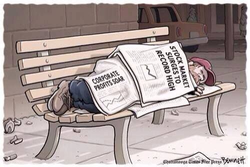 the map is not the territory... - (stock market)(wall street)(corporates)(corporate motherfuckers)(homeless)(bench)(newspapers)(headlines)(economy)(comic) - #stockmarket #wallstreet #corporates #corporatemotherfuckers #homeless #bench #newspapers #headlines #economy #comic