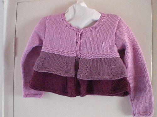 Knitting Cardigan Tutorial : Hand knitting tutorials girls three colour cardi free