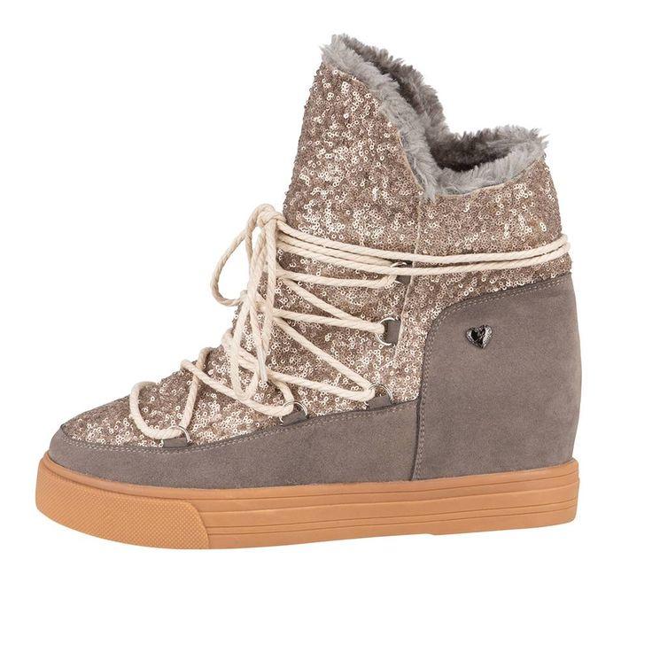 Suède pailletten boots