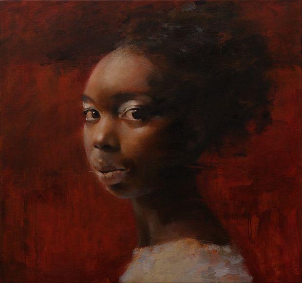Emilie - oil on canvas, 85x80 cm