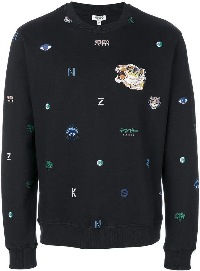 fd124221 Kenzo Multi Icons sweatshirt, Kenzo combines their iconic motifs this  Spring Summer 2018 for a unique design that is presented on this sweatshirt.