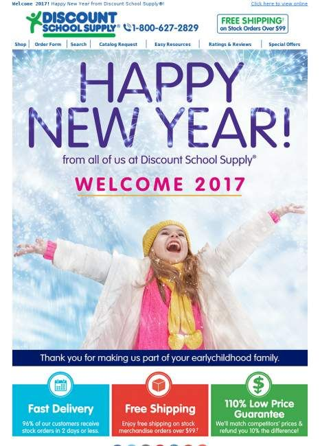 Happy New Year from Discount School Supply®! #couponing #offer