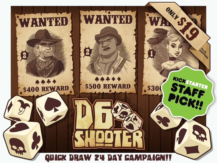 D6 Shooter: A Fast Paced, Press Your Luck Western Dice Game! project video thumbnail