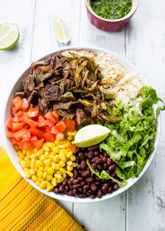 Better Than Chipotle Homemade Steak Burrito Bowls » I'm going to do this with pork this week, yum!