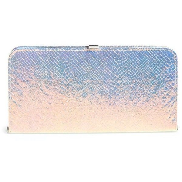 Women's Dune London 'Boom' Clutch (1 255 ZAR) ❤ liked on Polyvore featuring bags, handbags, clutches, pink handbags, chain handbags, chain purse, pink clutches and pink purse
