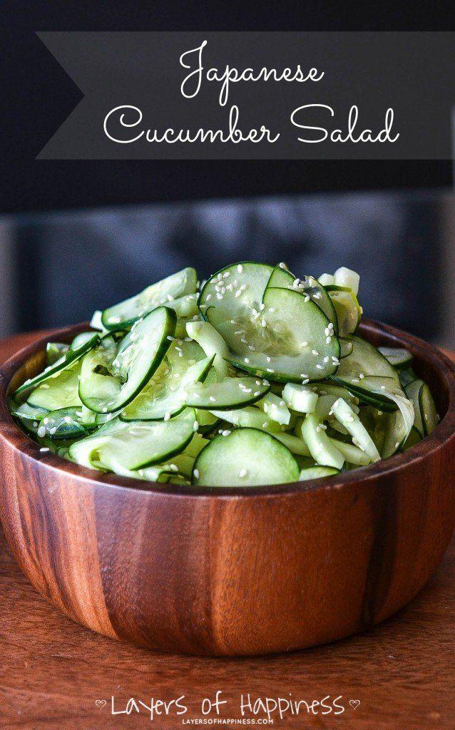 Japanese Sushi Restaurant Cucumber Salad Copycat @FoodBlogs