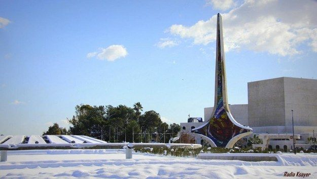 A Snowy Day At The Umayyad Square, Damascus | Community Post: Let's All Appreciate How Beautiful Syria Is